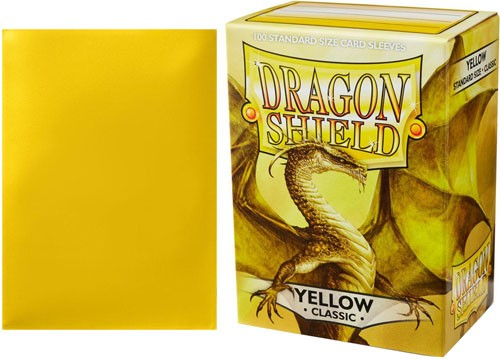 Classic Yellow Dragon Shield Sleeves (100ct)