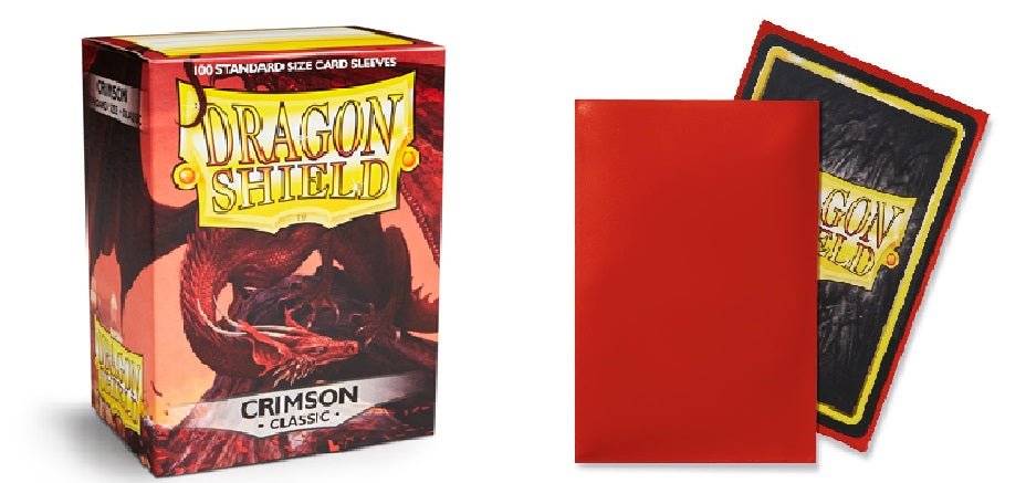 Classic Crimson Dragon Shield Sleeves (100ct)-Dragon Shield-Multizone: Comics And Games | Multizone: Comics And Games