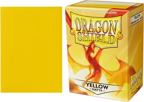 Matte Yellow Dragon Shield Sleeves (100ct)-Dragon Shield-Multizone: Comics And Games | Multizone: Comics And Games