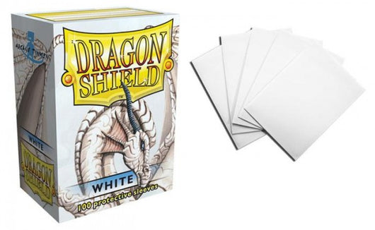 Classic White Dragon Shield Sleeves (100ct)-Dragon Shield-Multizone: Comics And Games