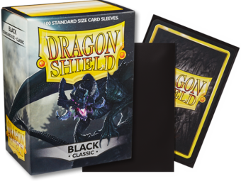 Classic Black Dragon Shield Sleeves (100ct)-Dragon Shield-Multizone: Comics And Games | Multizone: Comics And Games
