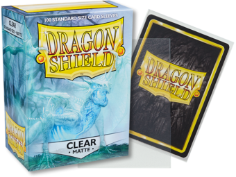 Matte Clear Dragon Shield Sleeves (100ct)-Dragon Shield-Multizone: Comics And Games | Multizone: Comics And Games