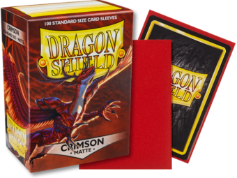 Matte Crimson Dragon Shield Sleeves (100ct)