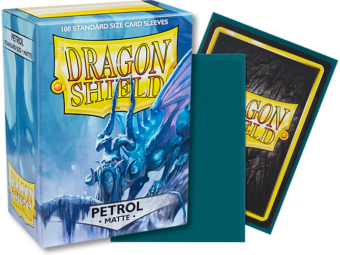 Matte Petrol Dragon Shield Sleeves (100ct)-Dragon Shield-Multizone: Comics And Games | Multizone: Comics And Games
