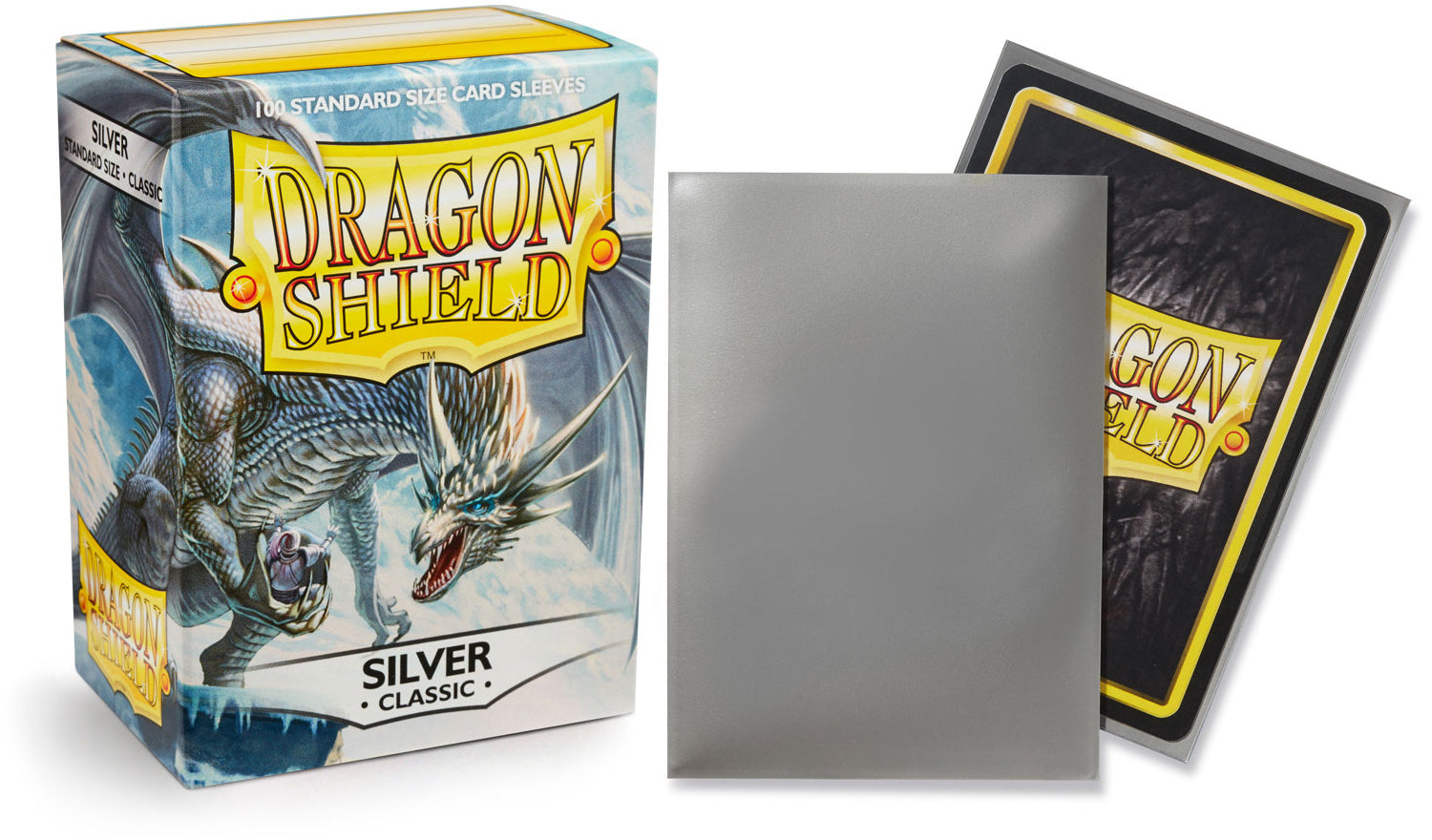 Classic Silver Dragon Shield Sleeves (100ct)-Dragon Shield-Multizone: Comics And Games | Multizone: Comics And Games