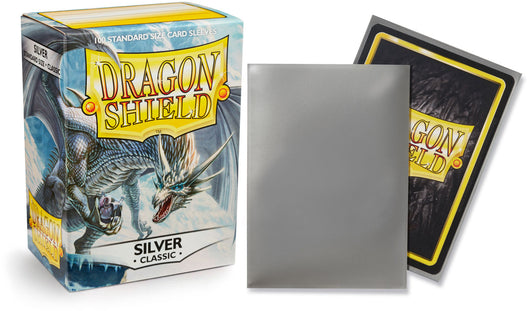 Classic Silver Dragon Shield Sleeves (100ct)