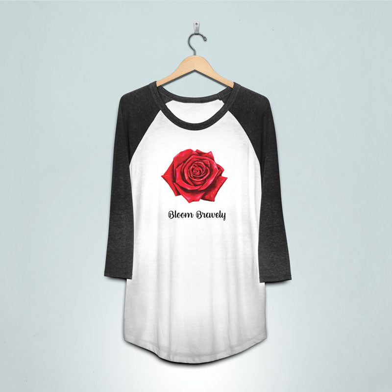 BLOOM BRAVELY Rose Baseball Jersey