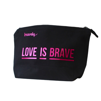 LOVE IS BRAVE Cosmetic Bag