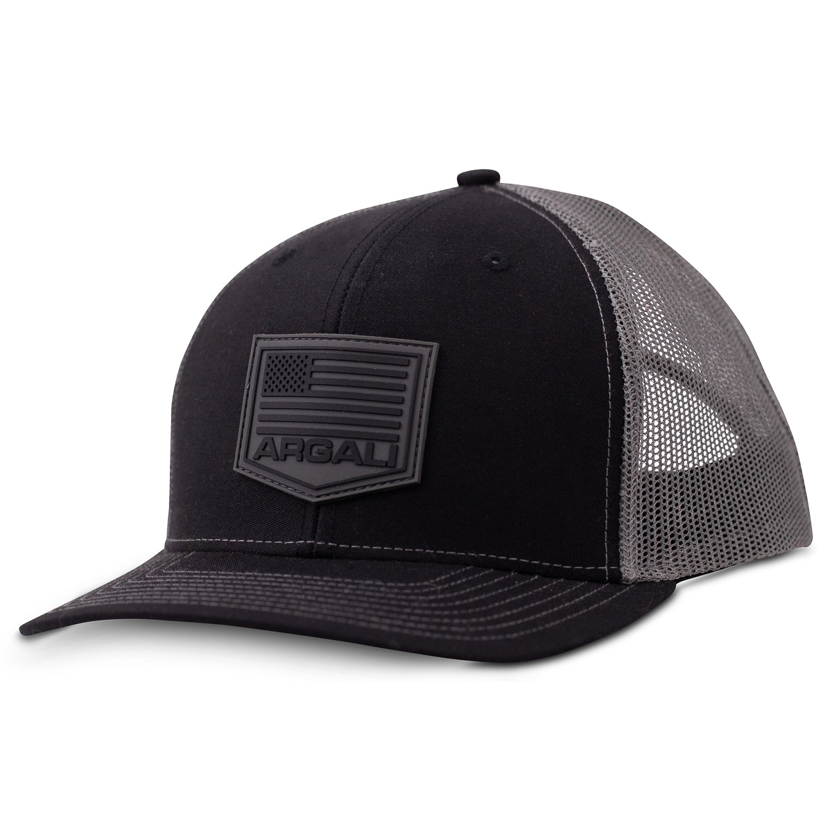 Argali Black Front Rubber Patch Hat