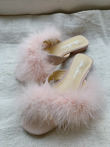 Natalia Beverly Hills Pink with Feather