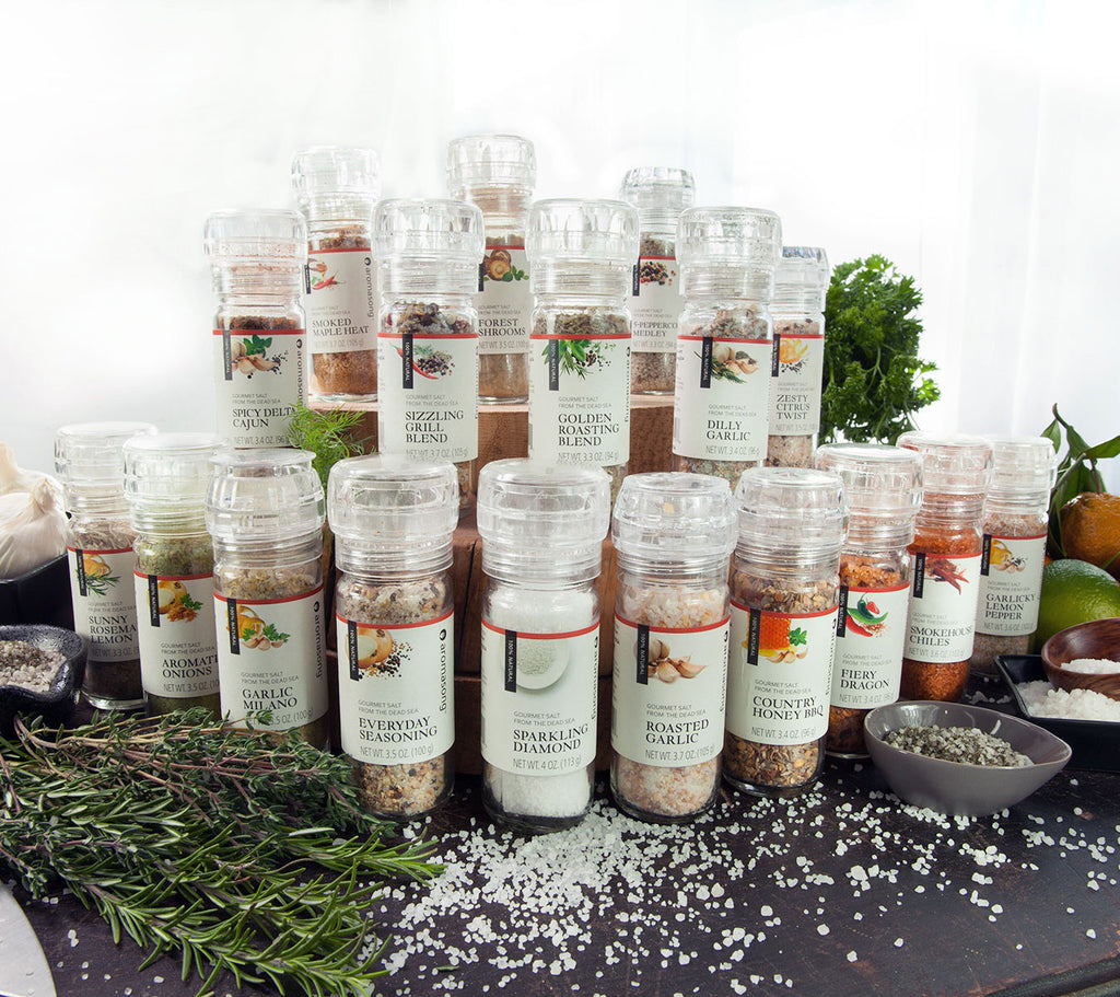 The Complete Aromasong Gourmet Dead Sea Salt Collection - Get All 18 Flavors!