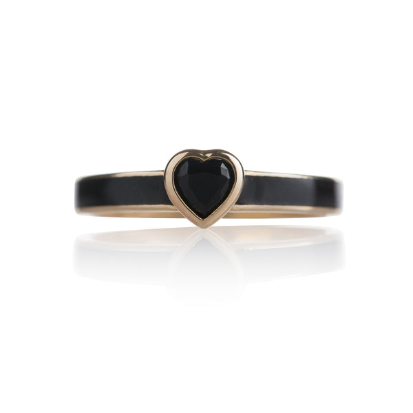 HEART RING BLACK ONYX