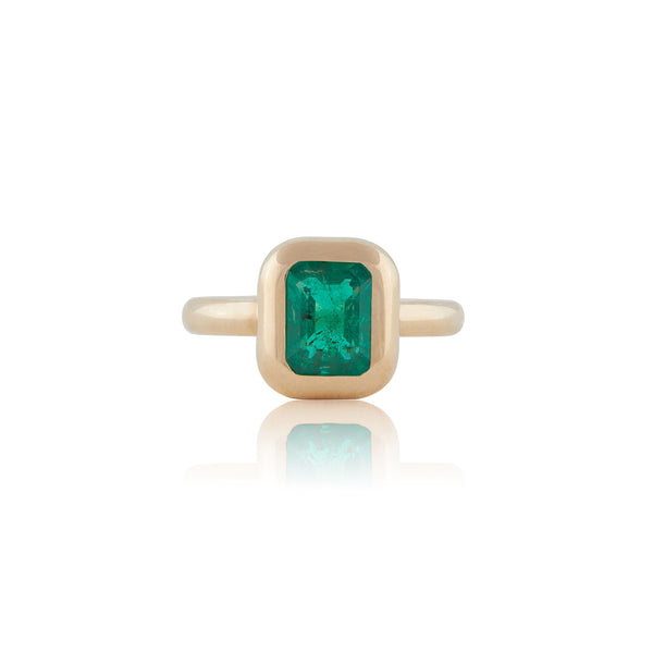 BUBBLE EMERALD RING