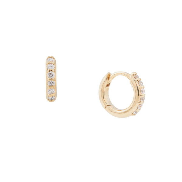 Diamond Bubble Hoops