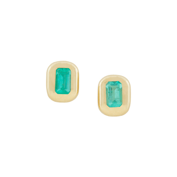 Baby Bubble Emerald Studs