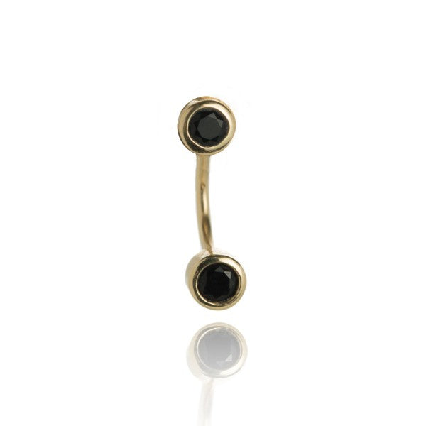 ONYX CRESECENT EARRINGS
