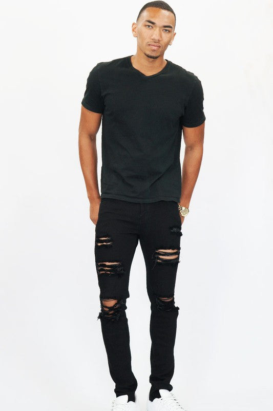 OVER DYE DISTRESS JEANS - The Executive Line