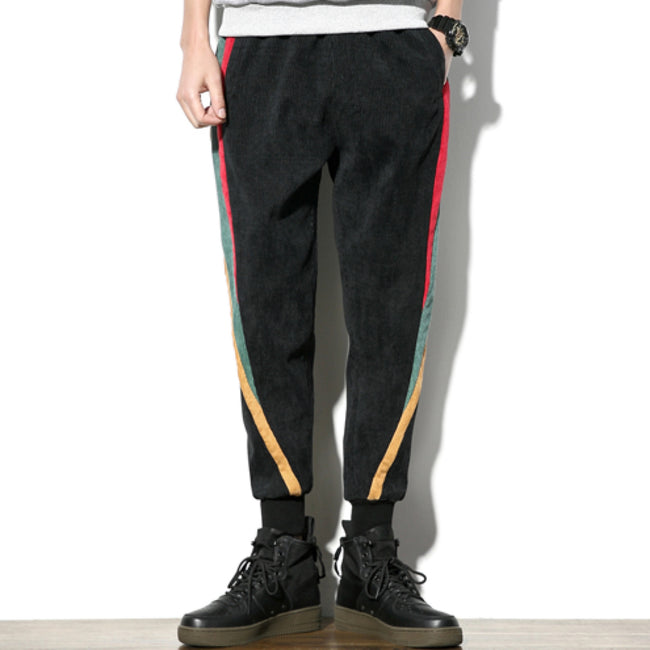 COURDOY FLEECE STRIPE PANT