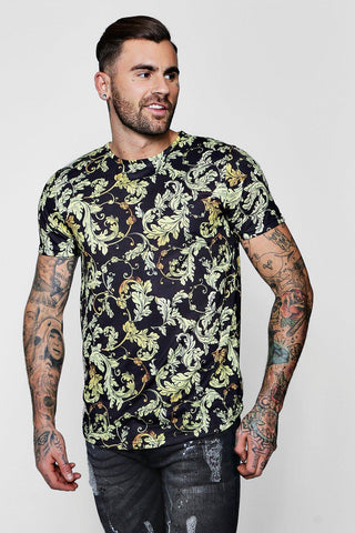 FLORAL LAY BUTTON SHIRT