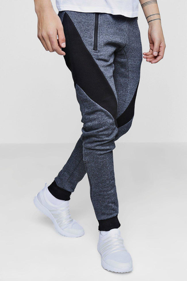 COLOR BLOCK STRIPE JOGGER