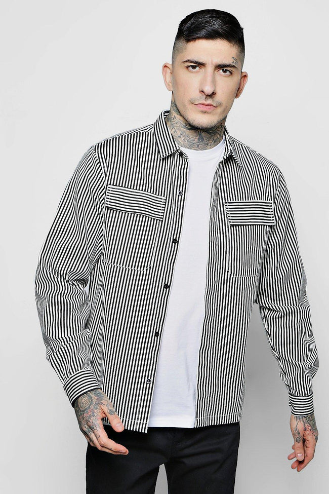 LINING STRIPE TRUCKER JACKET