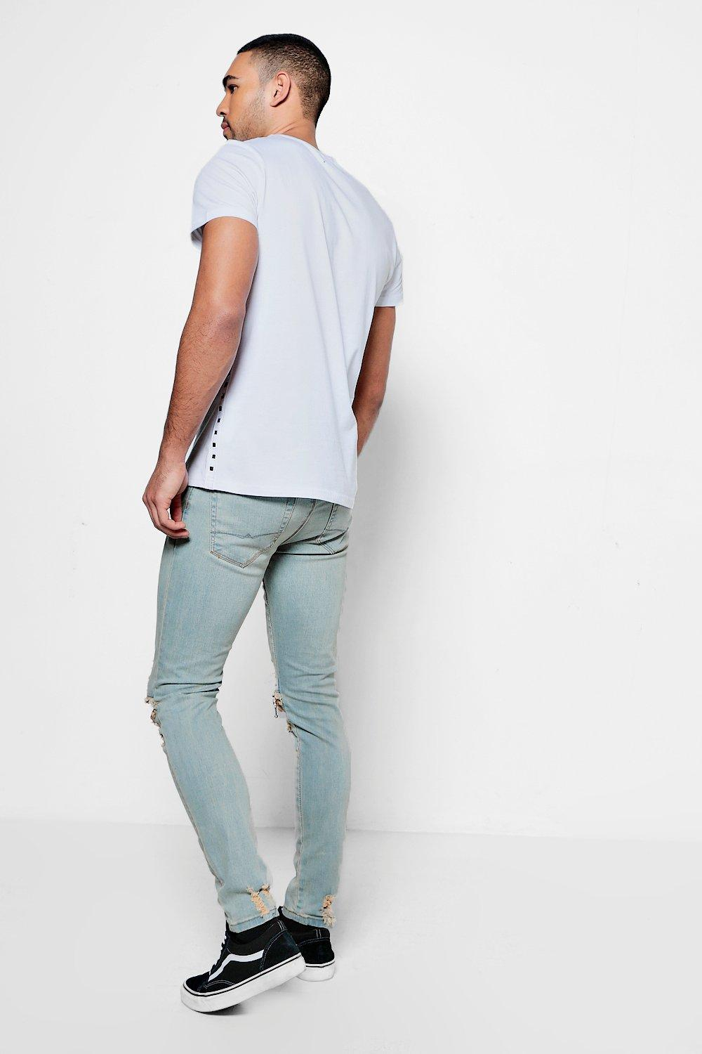 SLIT DENIM BURNT JEAN - The Executive Line