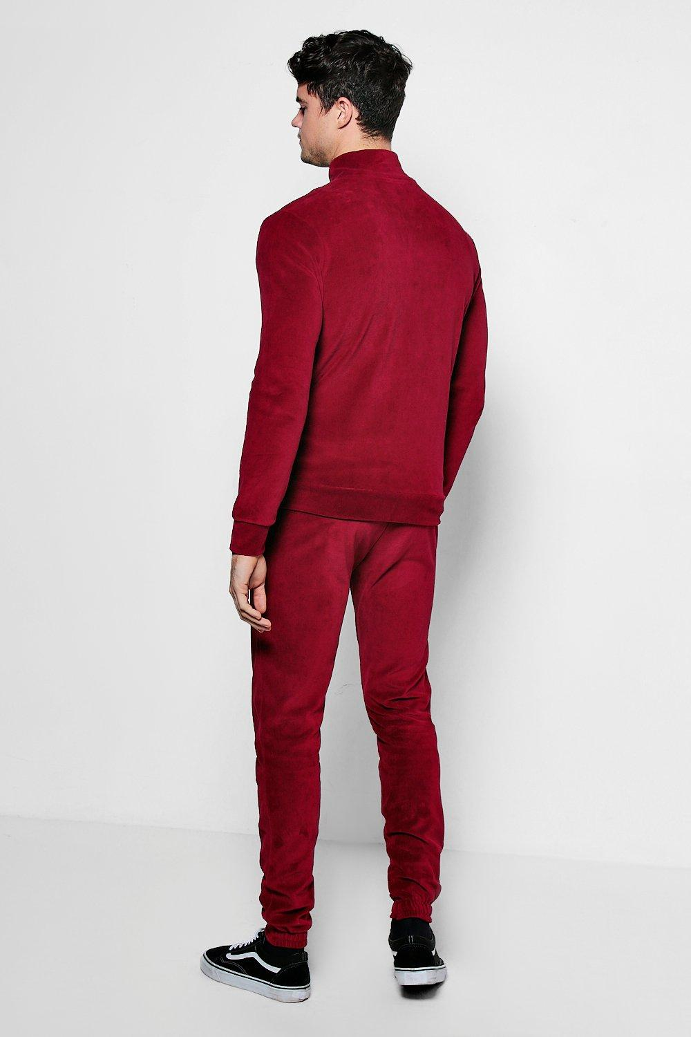 VELVET PANEL TRACK SUIT - The Executive Line