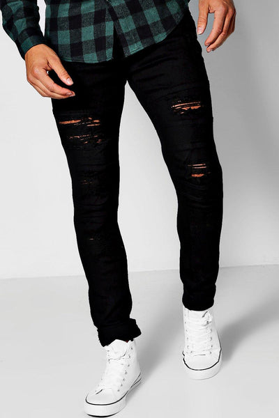 DISTRESS EXTENDED JEAN