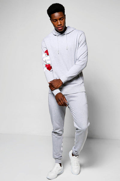 FLORAL EMBROIDER TRACK SUIT