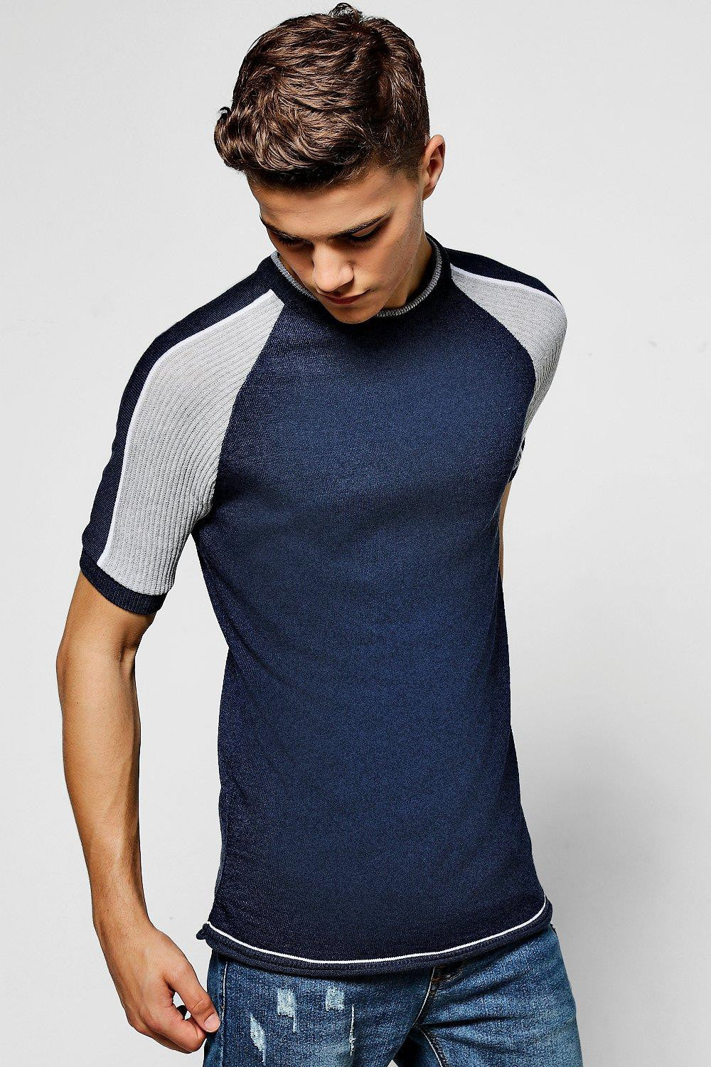 KNITTED COLLARLESS POLO