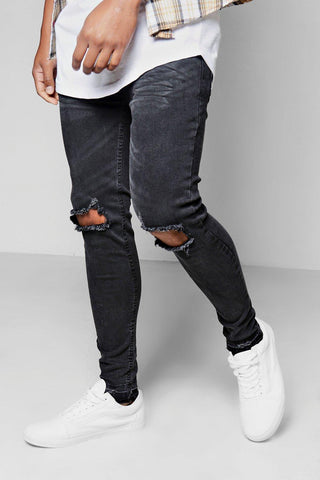 PALE BIKER DENIM