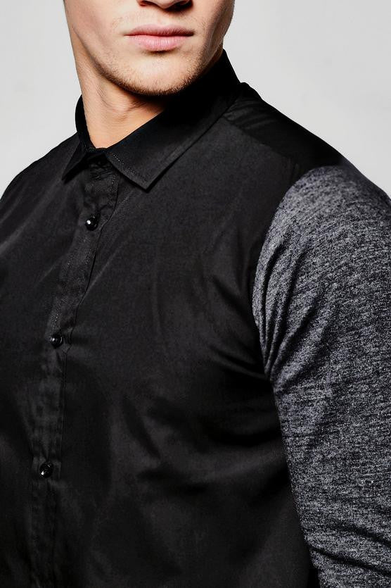 JERSEY SLEEVE BUTTON DOWN - The Executive Line