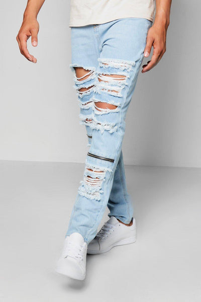 HEAVY RIGID DISTRESS DENIM