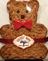 Giant Salted Chocolate Chip Teddy Bear with Red Bow Tie