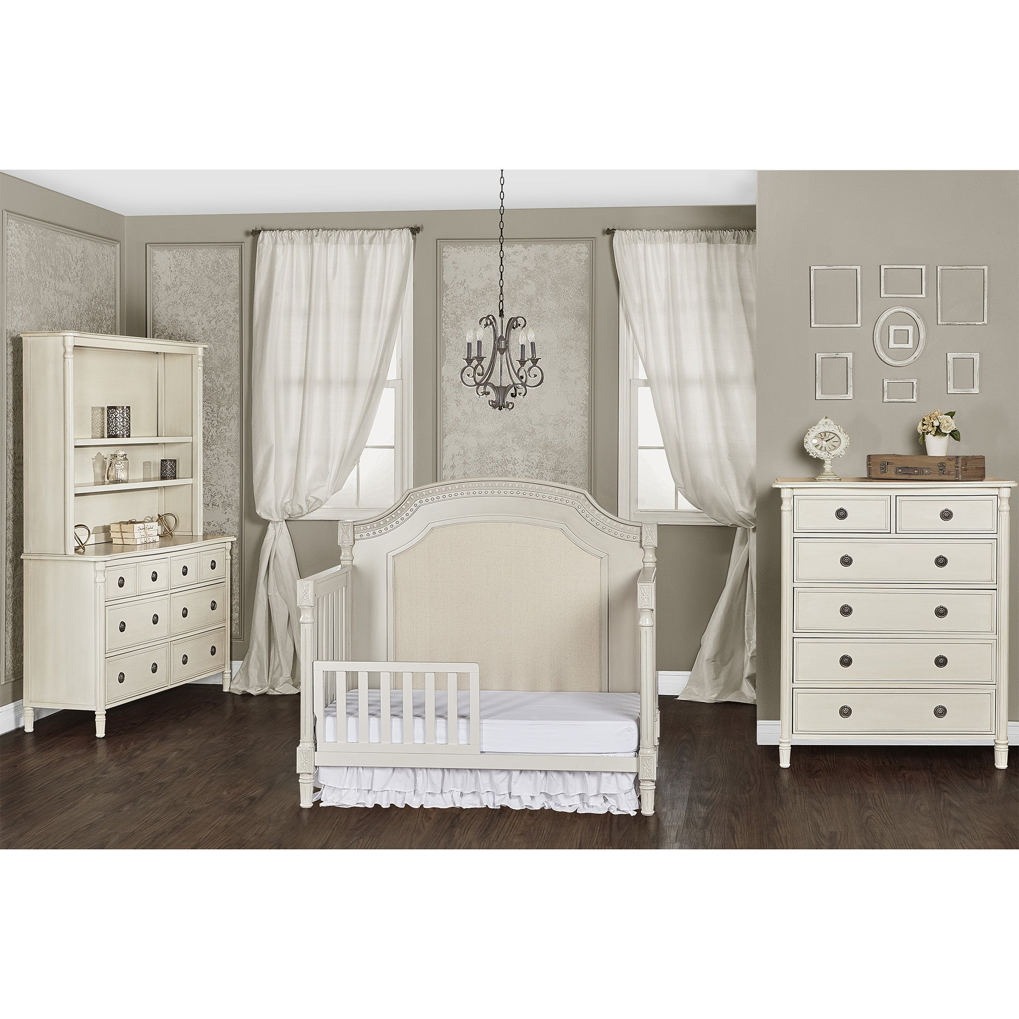 AFG Baby Lorie 4 in 1 Convertible Crib with Toddler Rail Aiden