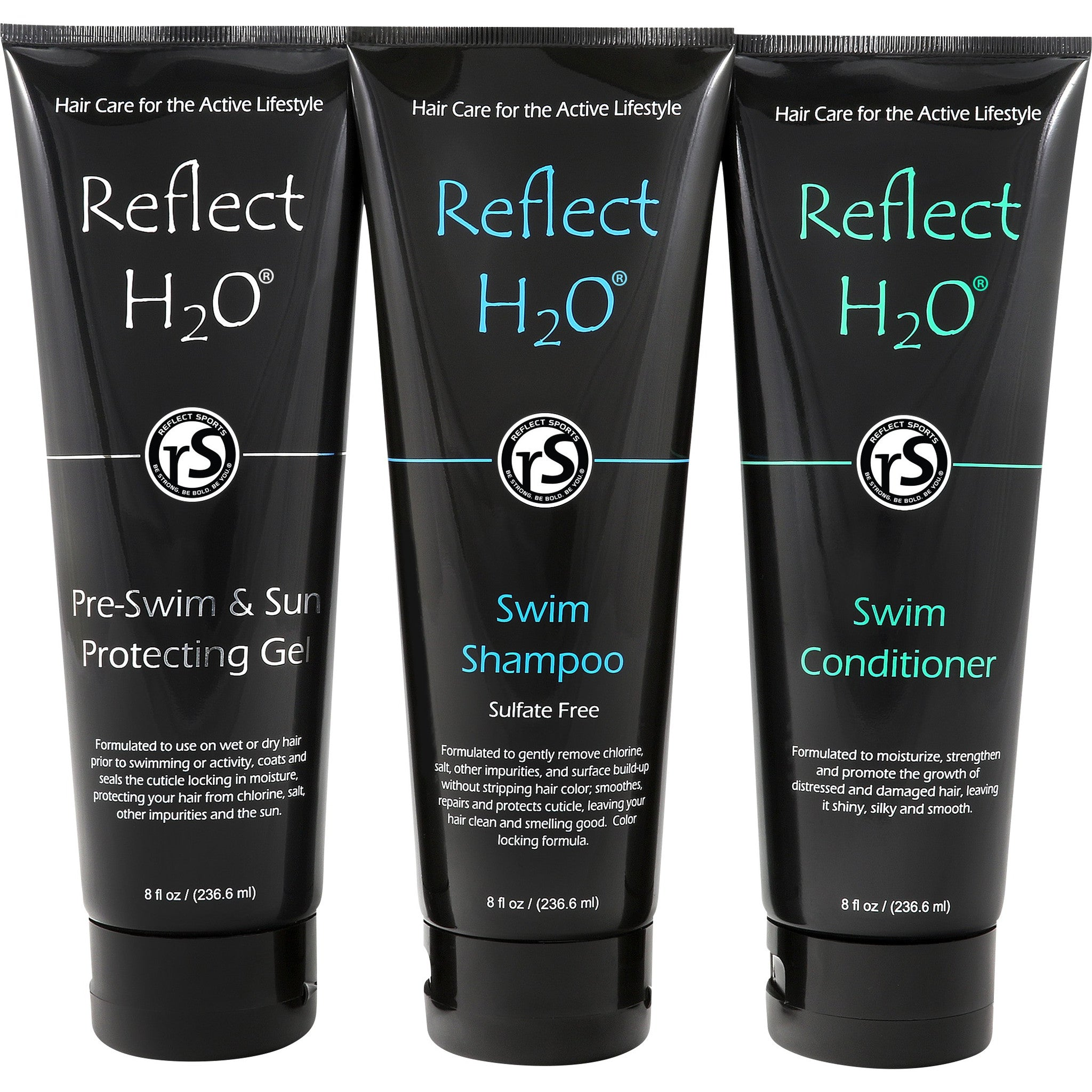 Swimmer's Shampoo, Swimming Conditioner and Pre-Swimming & Sun Protecting Gel