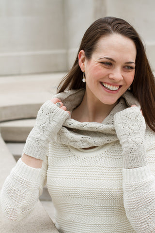 Greensboro Fingerless Mitts & Cowl