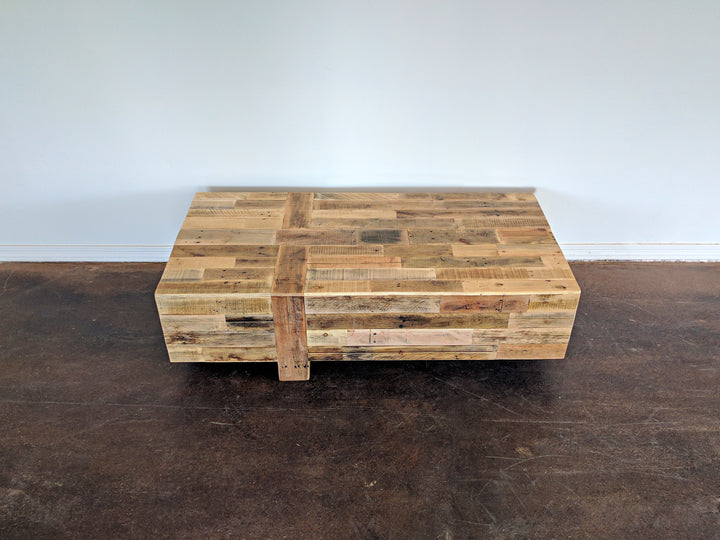 Reclaimed Wood Modern Box Coffee Table - Kase Custom
