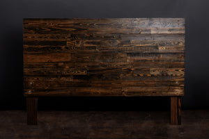 Dark Brown Espresso Reclaimed Wood Headboard