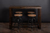 Reclaimed Wood Community Bar Restaurant High Top Table in Espresso - Kase Custom