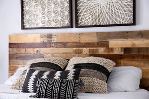 Reclaimed Wood Headboard Bedroom Decor