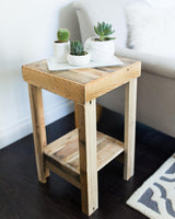 provincial reclaimed wood side table