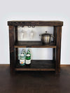 Reclaimed Wood Bar Server Cart