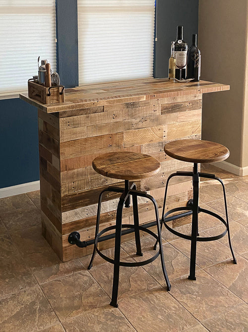 New! Reclaimed Wood Pub Bar - Kase Custom