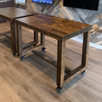 Reclaimed Wood Community Bar Restaurant High Top Table in Provincial