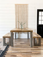 Reclaimed Wood Bow Tie Bench - Kase Custom