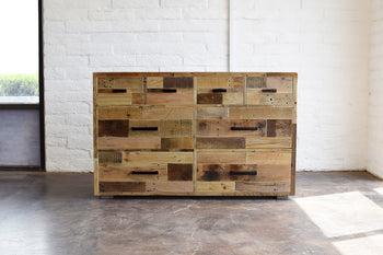 Reclaimed Wood Dresser Drawers - Kase Custom