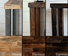 Reclaimed Wood Community Bar Restaurant High Top Table in Espresso
