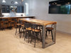 Reclaimed Wood Community Bar Restaurant High Top Table in Natural - Kase Custom