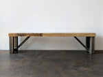 Reclaimed Wood Classic Farm Bench - Kase Custom